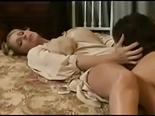 Young vintage mom fuck by young son in bathroom